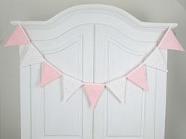 Wimpelkette große Wimpel rosa-weiß