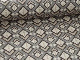 """Dekostoff """"geometrisches Muster taupe braun beige"""""""