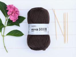 Sockenwolle Super SOXX dunkelbraun