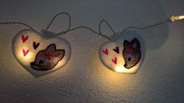 LED-Lichterkette Rehmädchen/Rehbuben