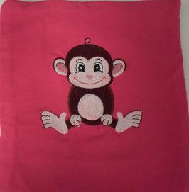 KIRSCHKERNKISSEN KLEIN pink mit Äffli