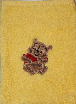 WASCHHANDSCHUH gelb mit Winne Pooh