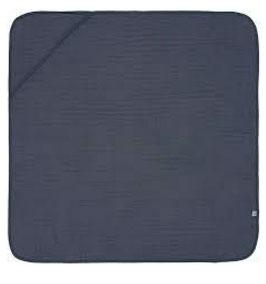 MULL - KAPUZENBADETUCH ca. 90 x 90 cm dunkelblau