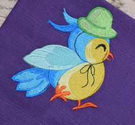 Nuschi violett mit Vögeli