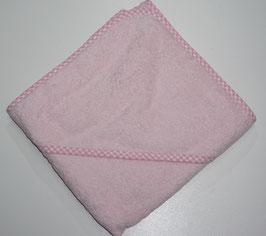 KAPUZENBADETUCH 80 X 80 CM rosa mit Kapuze rosa,  Motiv wählbar