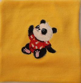 DINKELKISSEN KLEIN gelb mit Panda