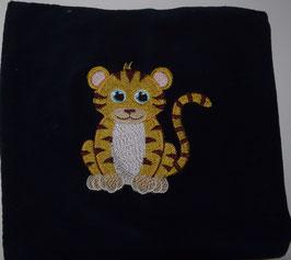 TRAUBENKERNKISSEN KLEIN  dunkelblau mit Tiger