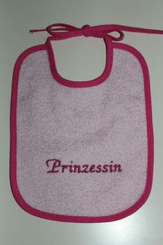 """Lätzli zum Binden rosa mit Text """"Prinzessin"""""""