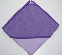 KAPUZENBADETUCH 80 X 80 CM flieder mit Kapuze violett,  Motiv wählbar