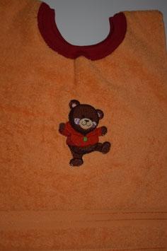 SCHLUPFLATZ klein orangegelb mit Teddy