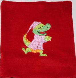 DINKELKISSEN KLEIN rot mit Krokodil