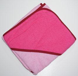 KAPUZENBADETUCH 80 X 80 CM rosa mit Kapuze pink,  Motiv wählbar