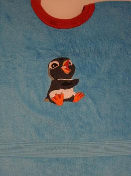 SCHLUPFLATZ GROSS türkis mit Pinguin