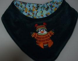 DREIECKSTUCH / SABBERTUCH:  Grösse 1,klein dunkelgrün mit Pinguin