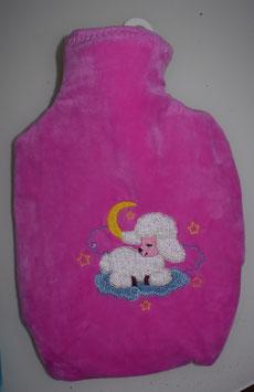 Wärmeflasche mit Überzug pink mit Schöfli