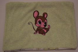 KIRSCHKERNKISSEN GROSS  hellgrün mit Maus