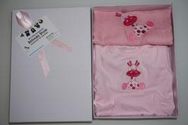 SPEZIAL GESCHENK-BOX  KLEIN mit Nuschi und Strampler ROSA