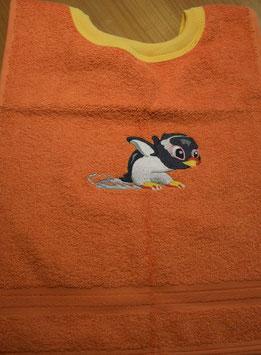 SCHLUPFLATZ klein orange mit Pinguin