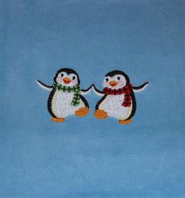 DINKELKISSEN KLEIN  hellblau mit Pinguin