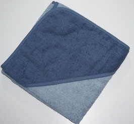KAPUZENBADETUCH 80 X 80 CM blaugrau, Kapuze petrolgarau