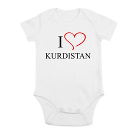 I Love Kurdistan Baby Body
