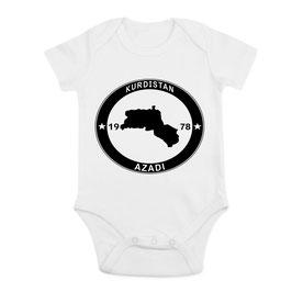 KURDISTAN Landkarte - Baby Bodys.  KOSTENLOSER VERSAND