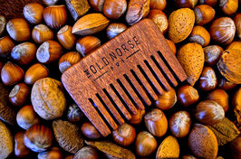 Short Cherry Wood Beard Comb