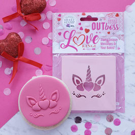 Sweet Stamp - Outboss love - Heart Unicorn