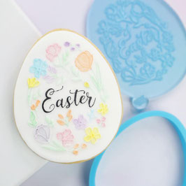 SweetStamp - Outboss STAMP N CUT - Floral Easter Egg