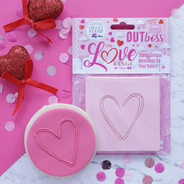 Sweet Stamp - Outboss love - Heart sketch