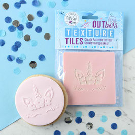 Sweet Stamp - Outboss texture tiles - Floral Unicorn