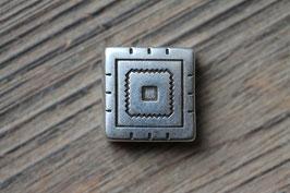 Bohoquadrat //Silberschieber für Leder flach breit