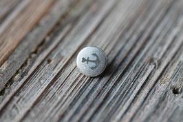 Anker //Silberschieber für Leder flach schmal & Stoffbänder