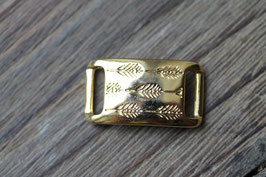 Gräser //Goldschieber für Leder flach breit