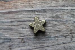Stern //Bronzeschieber für Leder flach breit