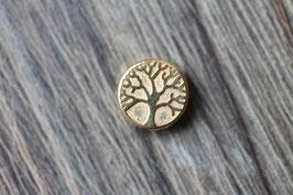 Baum-des-Lebens-Perle //Goldperle für Leder rund dünn & Perlenstränge