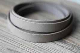 Grau //Lederbänder flach breit