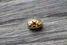 X-Perle //Goldperle für Leder rund dünn und Perlenstränge