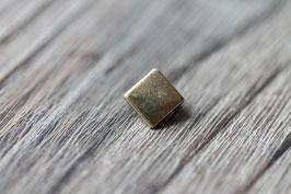 Quadrat //Bronzeschieber für Leder flach schmal & Stoffbänder