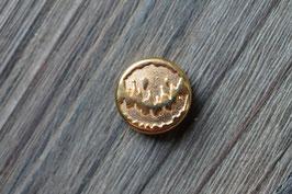 Herzschlag //Goldschieber für Leder flach breit