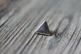 Dreieck //Silberschieber für Leder flach schmal & Stoffbänder