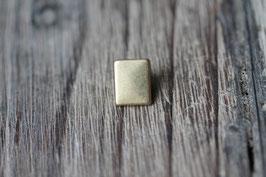 Rechteck //Bronzeschieber für Leder flach schmal & Stoffbänder