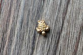Schildkröte //Goldperle für Wachskordel