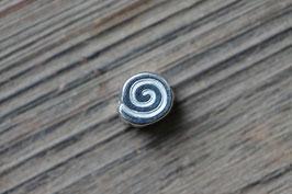 Schneckenperle //Silberperle für Leder rund dünn & Perlenstränge