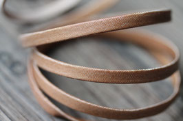 Metallic braun // Stoffband flach schmal