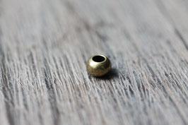 Schlichte Perle //Bronzeperle für Leder rund dünn & Perlenstränge