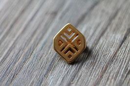 Herzmuster //Goldschieber für Leder flach breit