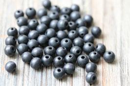 Holzperlen schwarz //Perlenstränge Natur