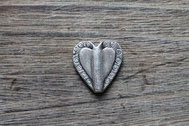 Metallperle Herz //Silberperle für Leder rund dünn & Perlenstränge