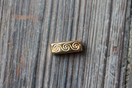 Wave-after-wave //Goldschieber für Leder flach breit